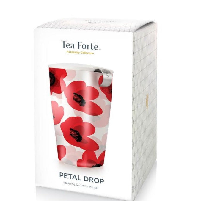 Tea Forte, KATI Steeping Cup & Infuser in Petal Drop