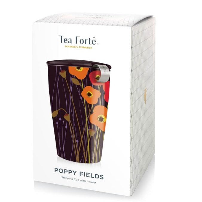 Tea Forte, KATI Steeping Cup & Infuser in Poppy Fields