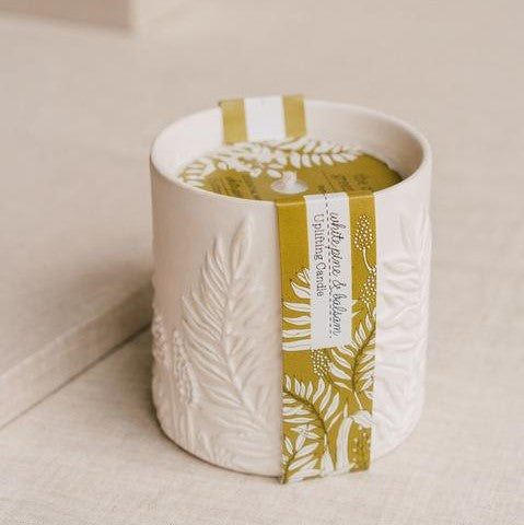 Cottage Greenhouse, White Pine & Balsam Ceramic Candle