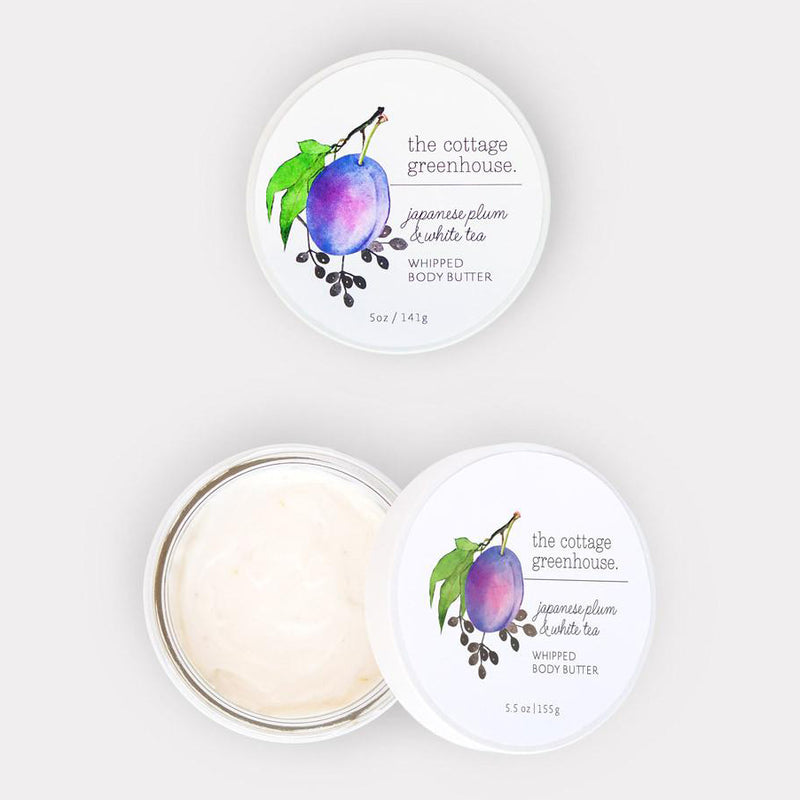 Cottage Greenhouse, Japanese Plum & White Tea Whipped Body Butter