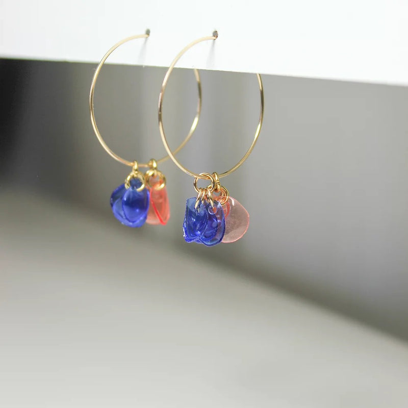 Rainbow Hoops in Blush/Blue by META