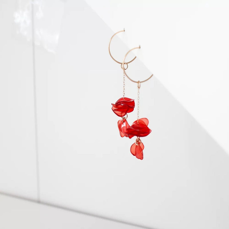 Nina Coral Chain Drops by META