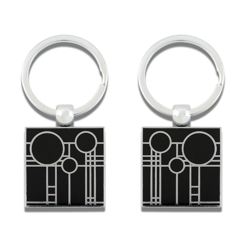 """Playhouse Black"" Key Ring by Frank Lloyd Wright"