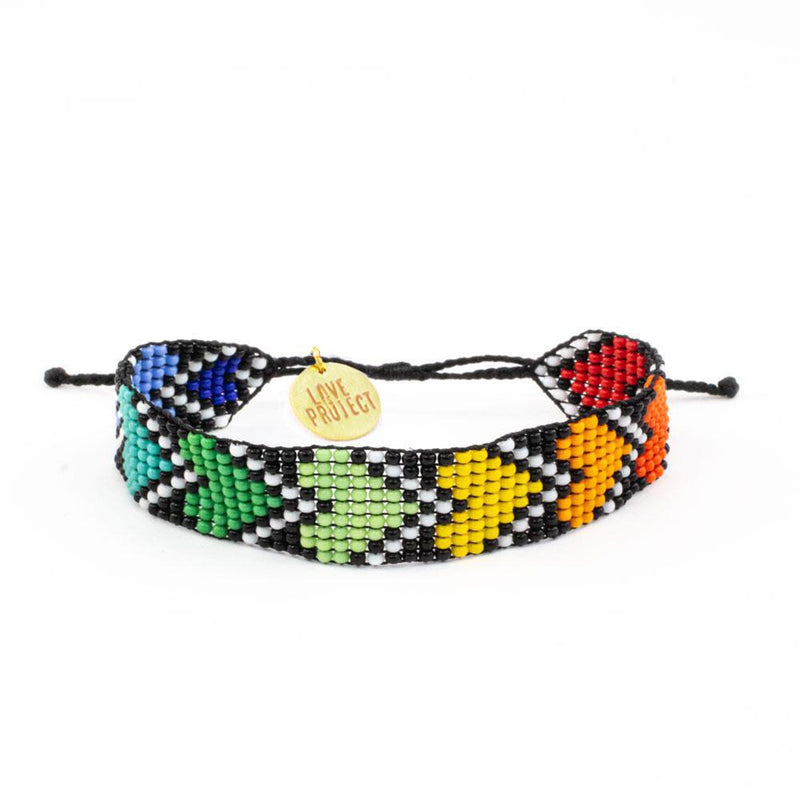 Rainbow River Hearts Bracelet
