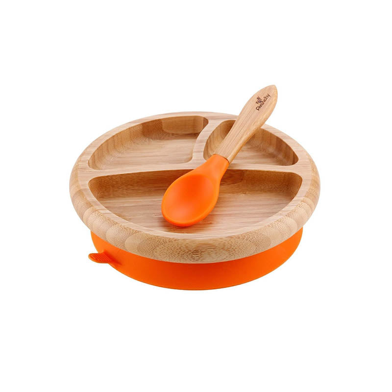 Bamboo Suction Baby Plate + Spoon
