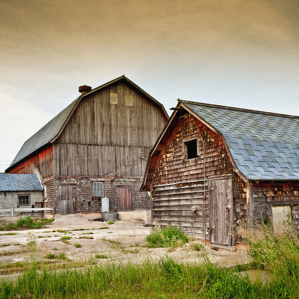Sister Bay Barn Canvas Print