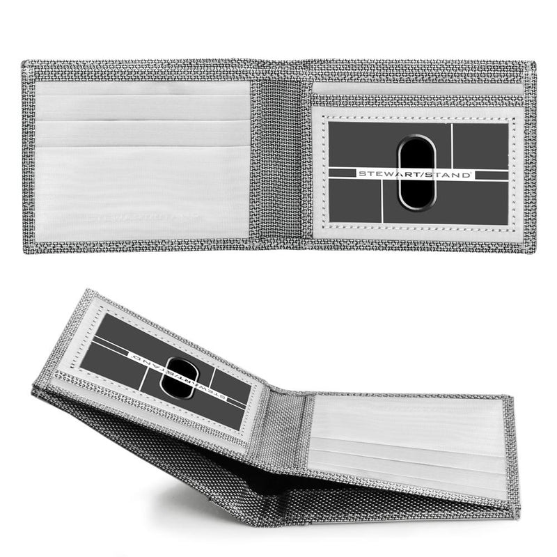 Slim Bill Fold Checkered, Silver