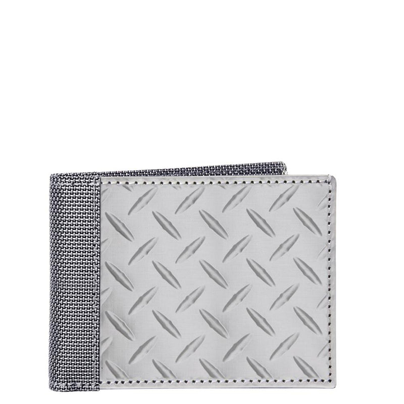 Slim Bill Fold Diamond Plate, Silver