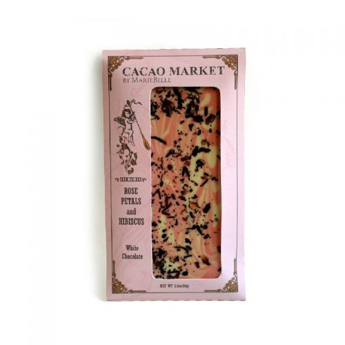 Cacao Market, Rose Petal & Hibiscus, White Chocolate