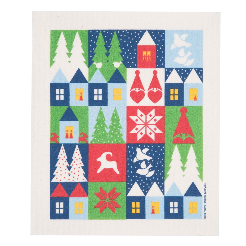 Swedish Dish Cloth - Holiday Houses