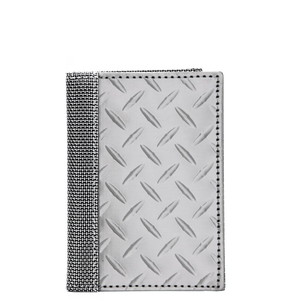 Driving Wallet Diamond Plate, Silver
