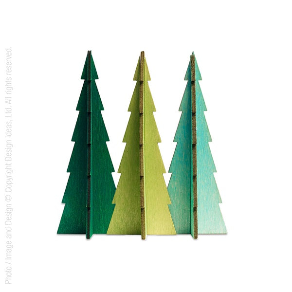 Tannenbaum Trees, Assorted Large Set of 3 - Greens