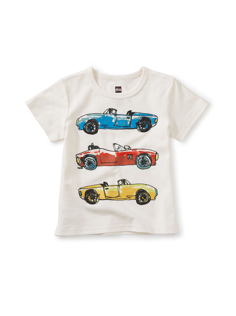 Fast Car Graphic Tee in Chalk
