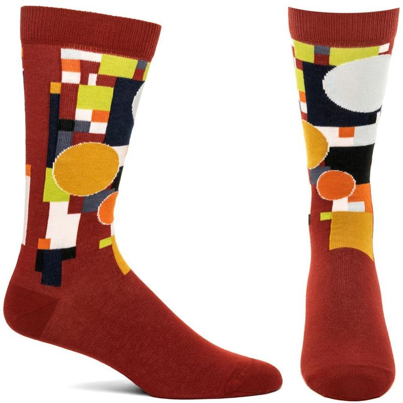 Frank Lloyd Wright Coonley Playhouse Socks, Red