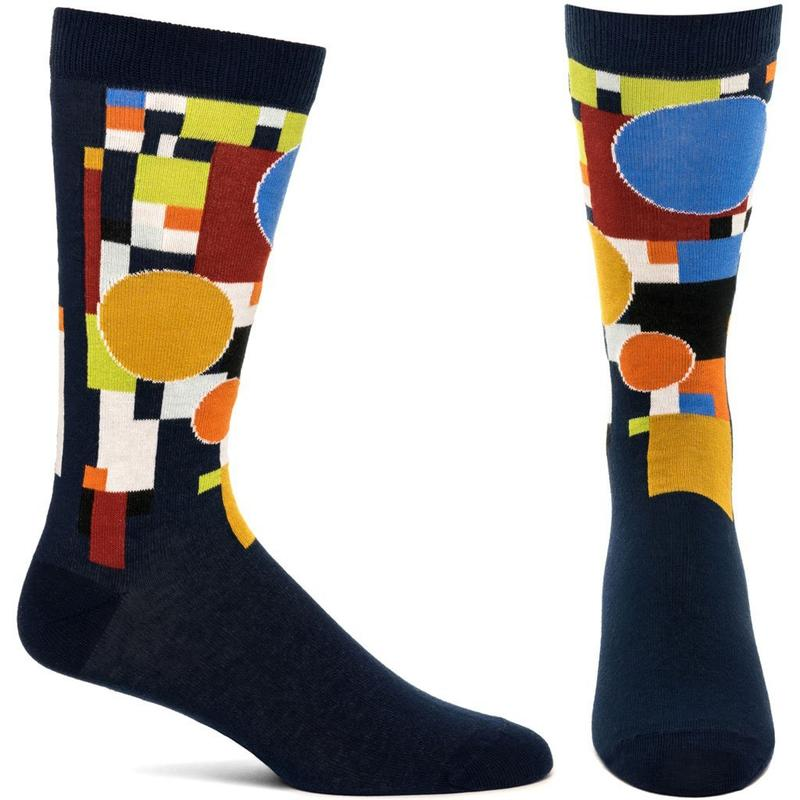 Frank Lloyd Wright Coonley Playhouse Socks in Navy