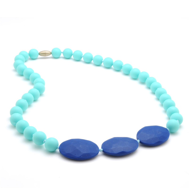 Greenwich Teething Necklace in Turquoise by Chewbeads