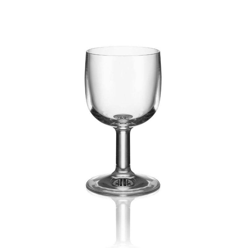 Alessi Glass Family, Goblet, Designer Jasper Morrison, Crystalline Glass, Drinking Vessal