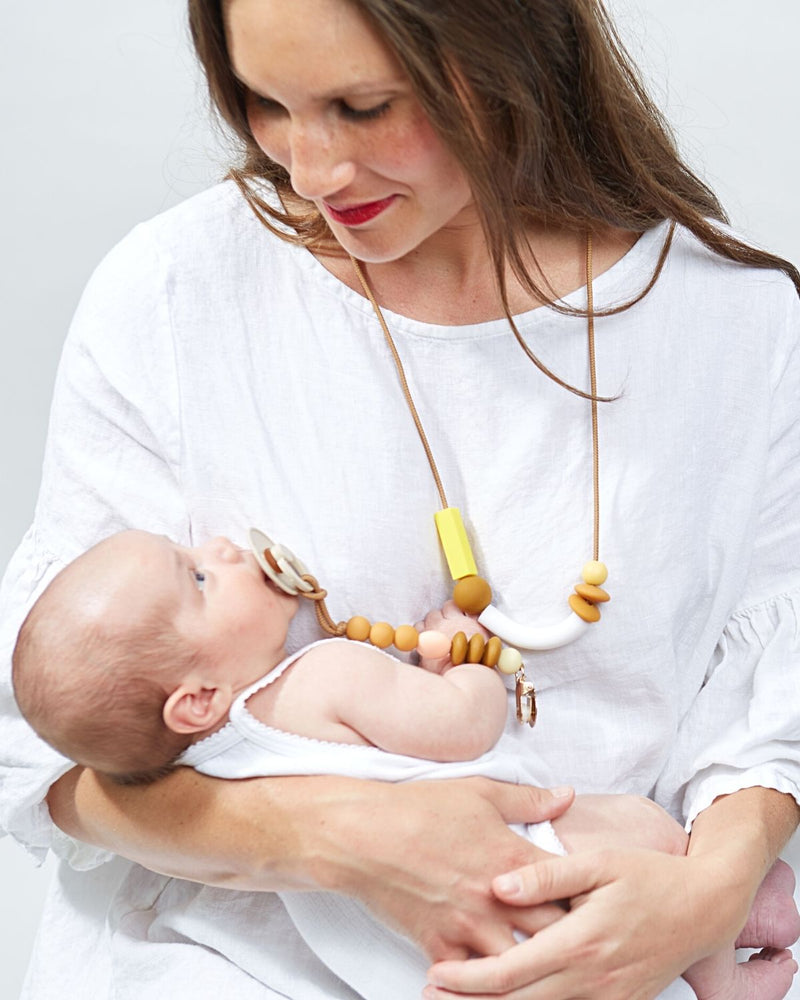 Honey Balance Teething Necklace by January Moon