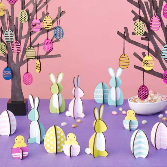 Easterly Decorations - Set of 8 Bunnies