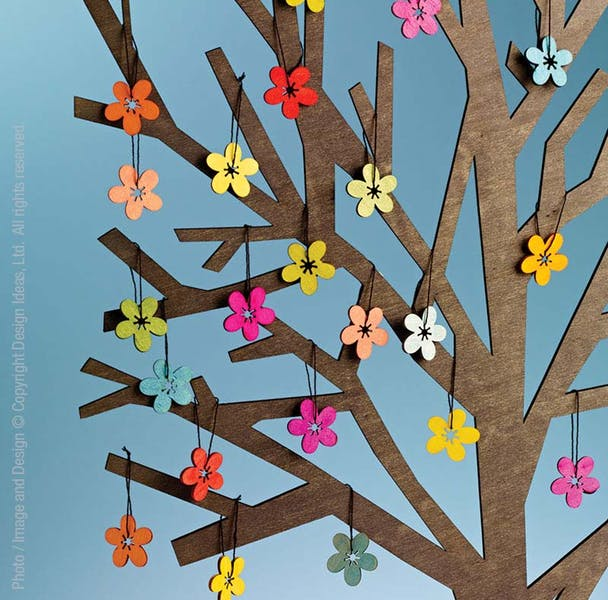Design Ideas, 24 SpringBlossom Ornaments and 1 Sherwood Tree