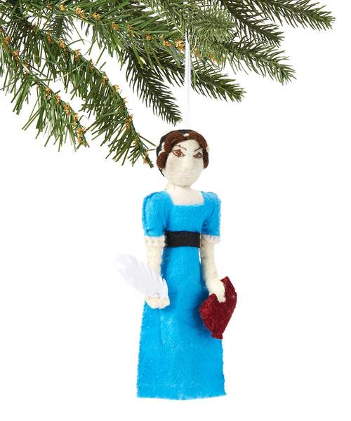 Jane Austen Felt Ornament