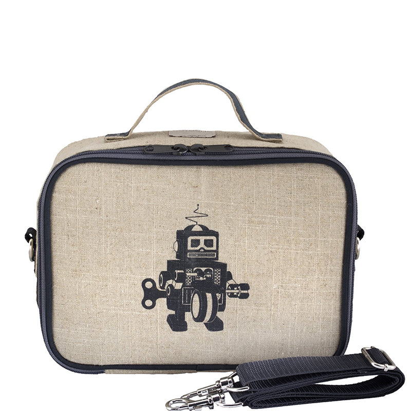 Grey Robot Lunch Box