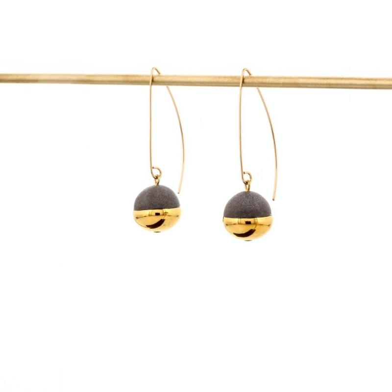 Gold Dipped Pear Earrings