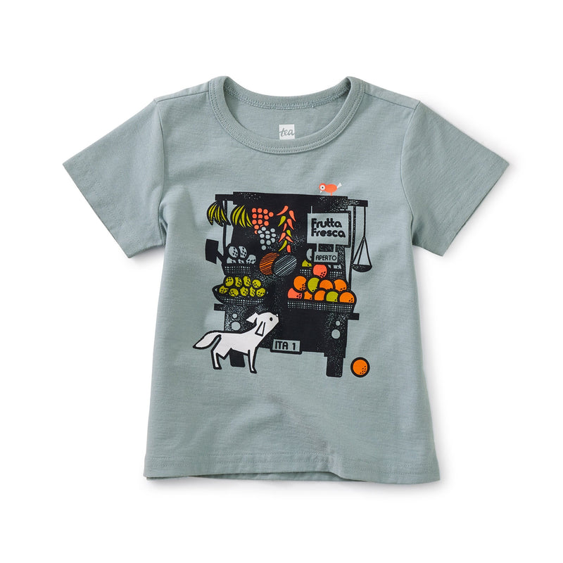 Market Baby Graphic Tee in Tourmaline