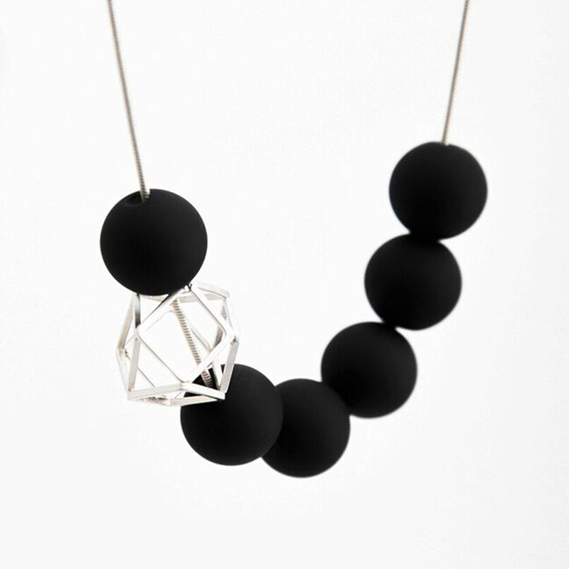 Pursuits Hex Hex Necklace, Black/Silver
