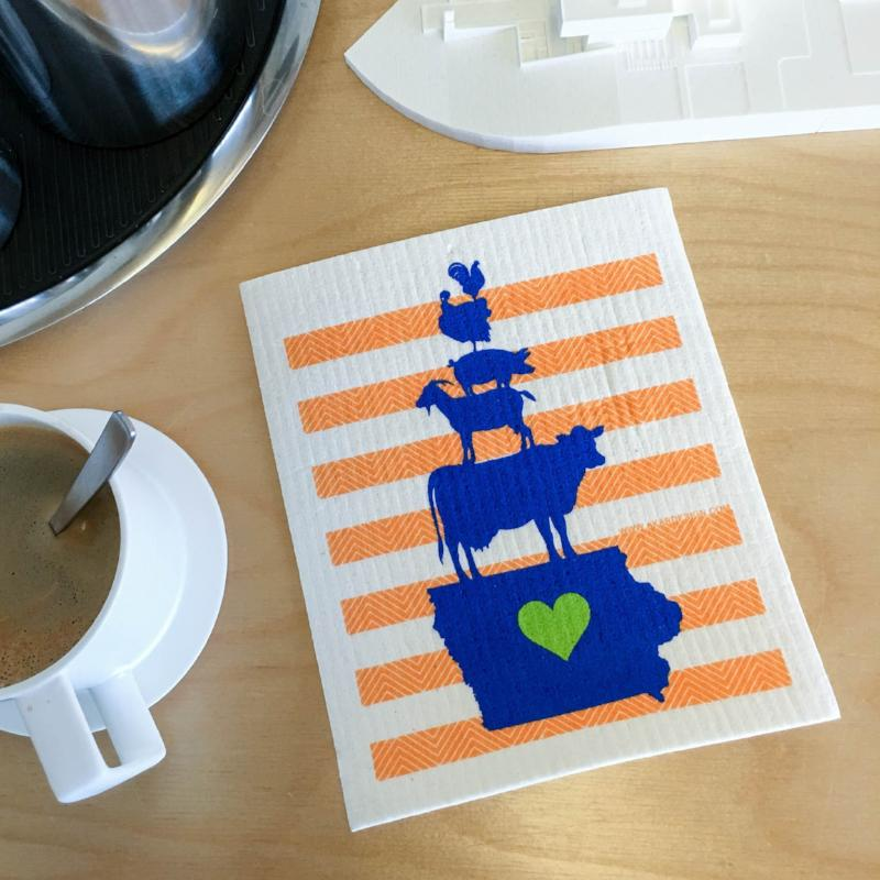 Iowa Cake Swedish Dish Cloth