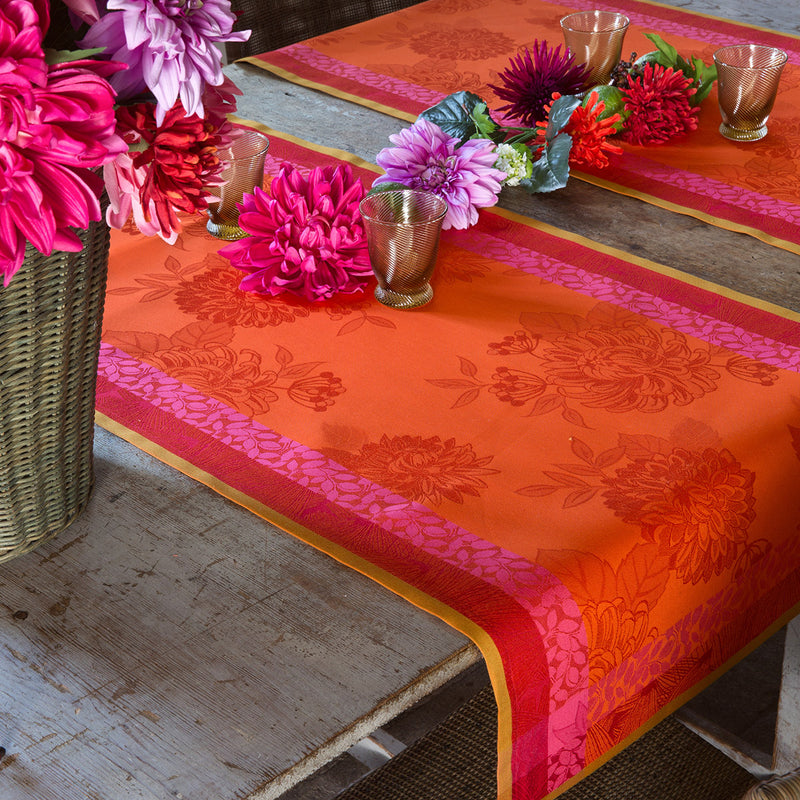 Le Jacquard Francais, Parfums de Bagatelle in Nasturtium, Table Runner