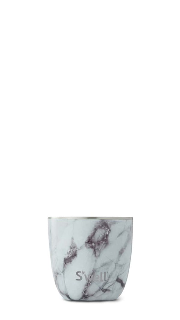 White Marble Tumbler by S'well, 10 oz