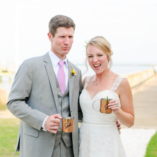 Kristan and her husband on their wedding Day