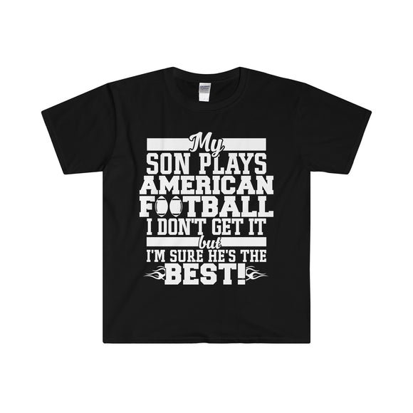 My Son Plays American Football Adult - Men's T-Shirt