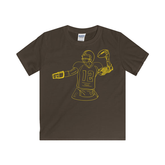 Minimalist Cyborg Quarterback - Youth T-Shirt