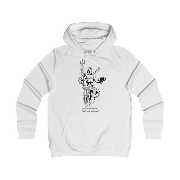 God Created Football - Women's Hoodie