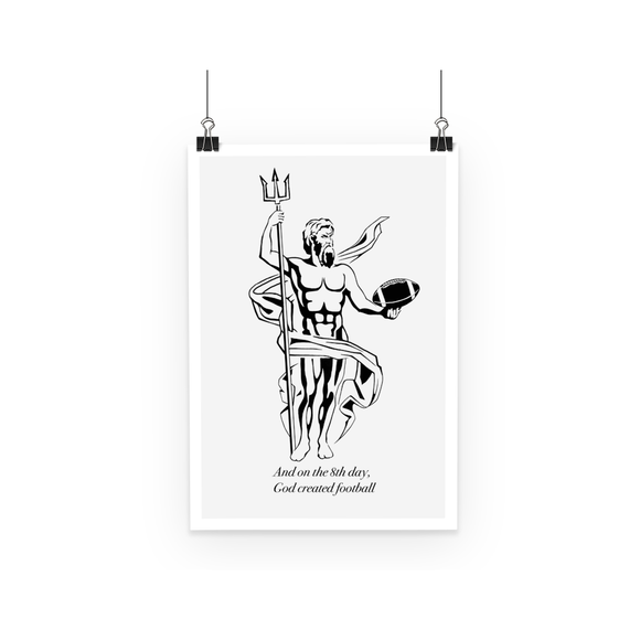 God Created Football - Poster