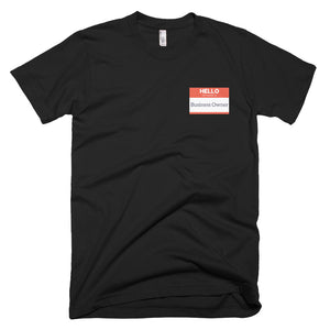 Hello My Name is Business Owner [short sleeve men's t-shirt]