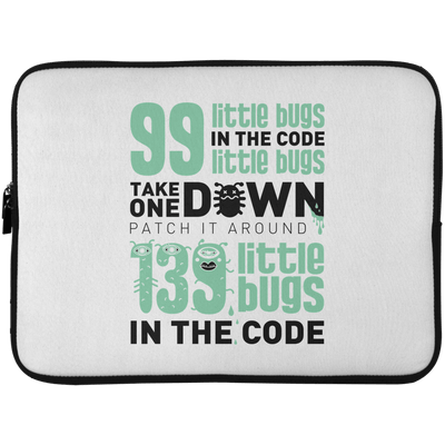 99 Little Bugs In The Code Laptop Sleeve
