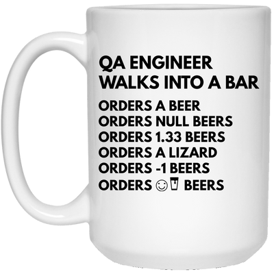 QA Engineer Walks into a Bar Mug/Bottle