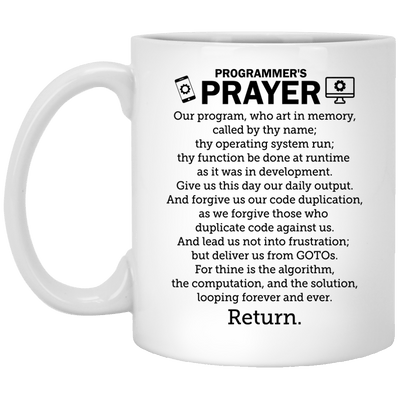 Programmer's Prayer Mug/Bottle