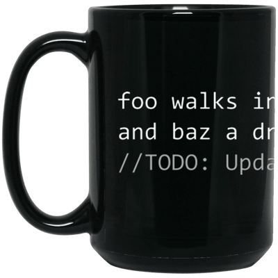 foo walks into a bar...