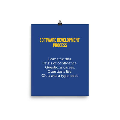 Software Development Process Poster