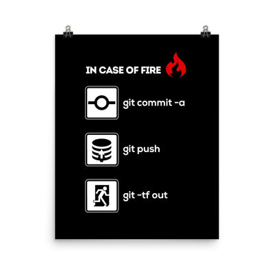 In Case of Fire: Git -tf out Poster