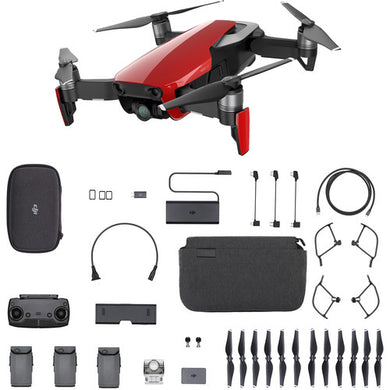 Mavic Air 4K Camera 3-Axis Gimbal 32MP Sphere Panoramas Foldable RC Drone Fly More Combo - Flame Red