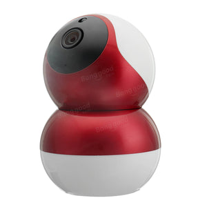 Wireless Network WiFi Surveillance Security IP Camera Indoor Night Vision System- Red