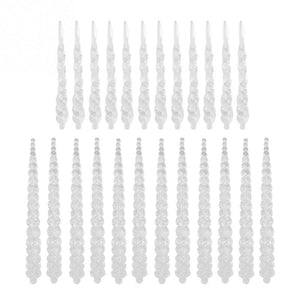 24PCS Acrylic Hanging Icicles Drop Ornament for Xmas Tree