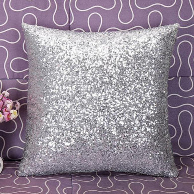 Solid Color Glitter Sequins Throw Cafe Home Decor Cushion