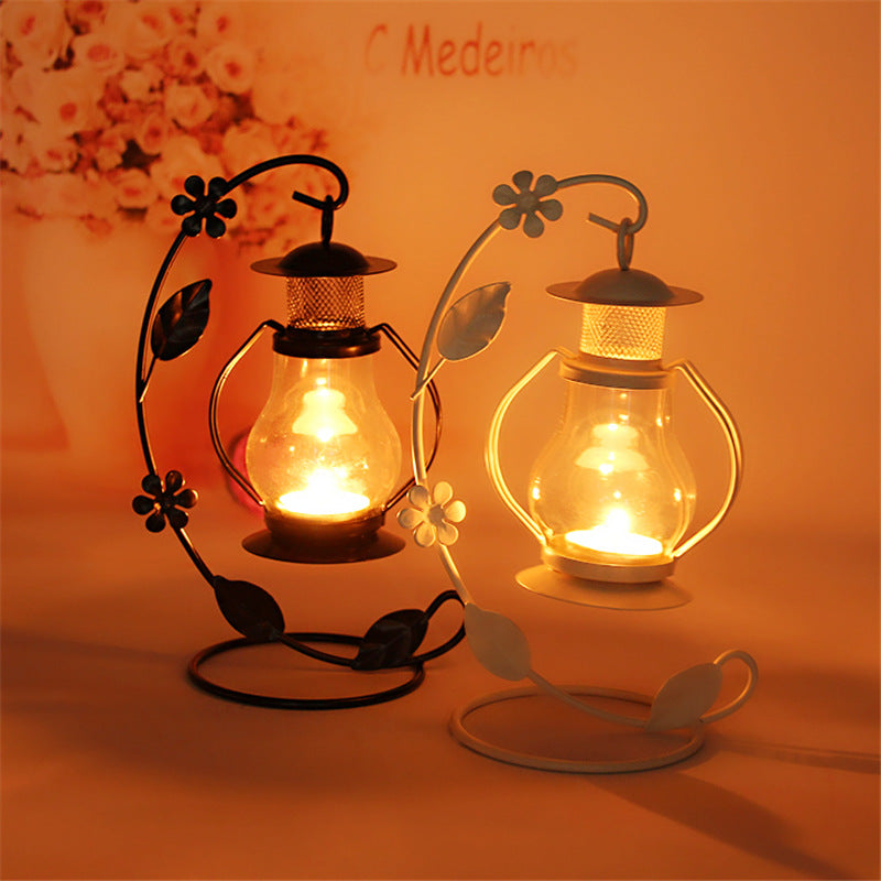 2 Colors Candle Holders Metal Lantern