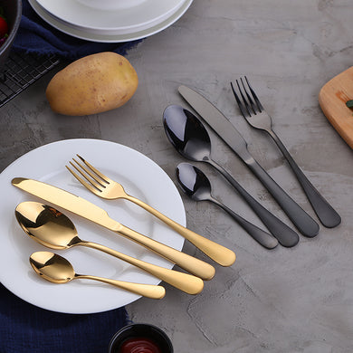 Gold Dinnerware Stainless Steel Cutlery Set 4 Pieces